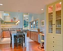 blue and yellow kitchen houzz