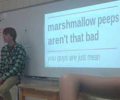 Mean Meme - dopl3r com memes marshmallow peeps arent that bad you guys are