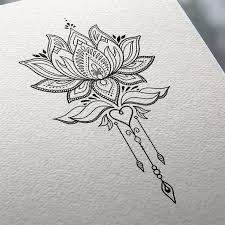 lotus flower sketch flowers ideas for review
