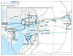 Map Of Brandon Florida by Fiber Optic Network Footprint Fiberlight