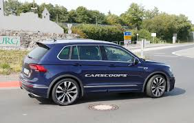 volkswagen audi car vw tiguan r test car spotted again but it u0027s not what it looks like