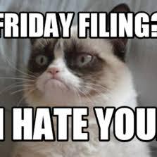 Grumpy Cat Friday Meme - grumpy cat