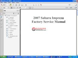 keygen autorepairmanuals ws subaru wrx u0026 sti 2007 factory service