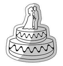 wedding cake outline wedding vector images 4 300
