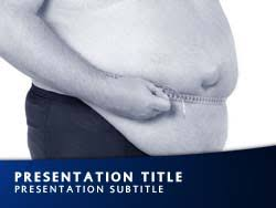 royalty free obesity powerpoint template in blue