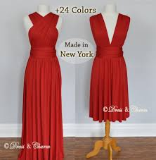 ruby red maxi dress infinity dress convertible dress red dress