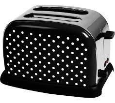 Red Polka Dot Kettle And Toaster Buy Kalorik Classic 2 Slice Polka Dot Steel Toaster Black U0026white At