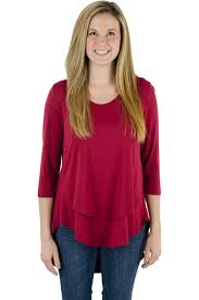 nursing top latched 3 4 sleeve scoop neck nursing top