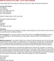 sample cover letter for adjunct faculty position 4903