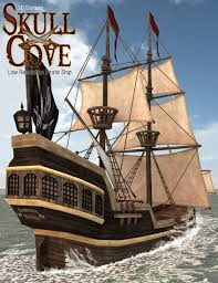 skull cove pirate ship 3d models and 3d software by daz 3d