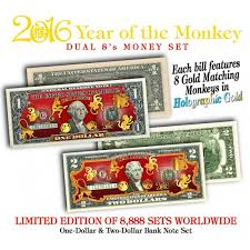 new year dollar bill year of the monkey 1 2 new year lucky money set dual