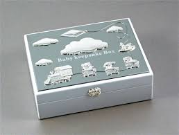 silver keepsake box and silver baby keepsake box with rocking