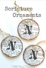 hill house homestead scripture ornaments