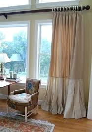 Two Tone Curtains Two Tone Burlap Curtains Smocked Top Drapery Panels Smocked Linen