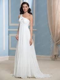 high waist wedding dress simple one shoulder high waist ruched beading a line wedding dress