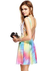 colorful dress romwe colorful print sleeveless dress the fashion