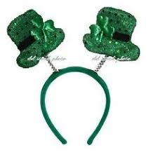 irish st patricks day giant green shamrock bow tie fancy dress