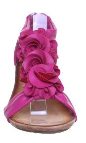 womens low wedge sandals back zip flower ladies open toe fashion