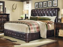 king leather upholstered platform bed by a r t furniture inc