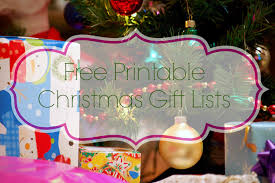 printable christmas gift list what mommy does