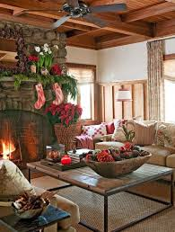 Log Home Interior Decorating Ideas 33 Cute Log Cabin Christmas Decorations