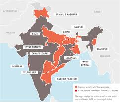 New Delhi India Map by India Msf Usa