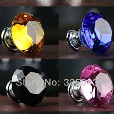 Door Knobs And Handles For Kitchen Cabinets 30mm Colorful Drawer Pulls K9 Crystal Door Knobs And Handles