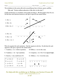 graphing circles worksheets linear graphs worksheet doc