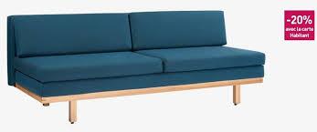 canapé lit habitat ippon ii canapé lit 3 places bleu turquoise habitat meubles pas