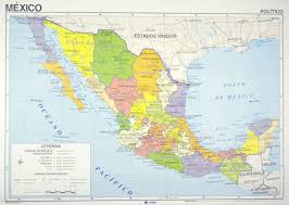 map of the mexico map mexico in zoom