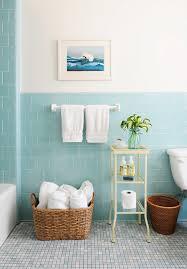 blue bathroom ideas rue magazine pretty bathroom with aqua blue tiled half walls and