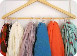 Creative Way To Hang Scarves by Repurpose Hang On To Your Wood Hangers The Refab Diaries