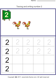 print it number worksheets on writing number trace number 2 and
