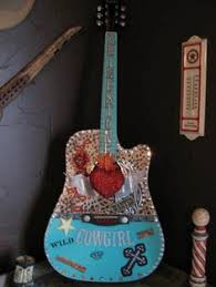 Shabby Chic Guitars by Would Love To Have These Hanging In The House For The Home