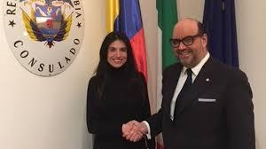 consolato colombiano venezia accoglie il narda munoz incontro con il console
