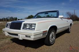 chrysler lebaron k car 1982 chrysler lebaron medallion mark cross edition convertible