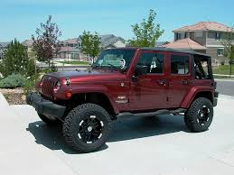red jeep jeep wrangler unlimited mwbutterfly flickr