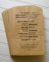 kraft paper wedding programs wedding ceremony programs set of 25 custom flat kraft paper bag