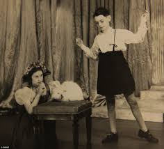 young queen elizabeth pictured starring in royal pantomimes during
