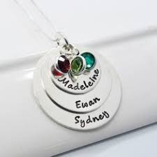 Mothers Necklaces With Children S Names Personalized Hand Stamped Mothers Necklace Grandmother Jewelry