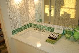 white horizontal glass tile bathroom backsplash ideas ceiling lamp