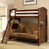 Twin Over Full Liberty Futon Bunk Bed Frame Unfinished Price - Futon couch bunk bed
