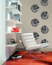 Animal Print Chairs Living Room by Furniture Room Desig With Rectangle White Desk Near White