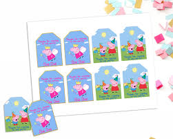 peppa pig favor tags peppa and george printable favor tags