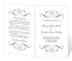 printable wedding program wedding program template printable instant