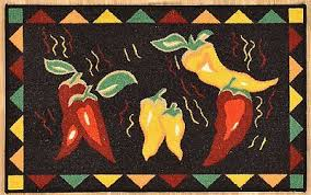 Chili Pepper Kitchen Rugs Mexican Kitchen Collection On Ebay