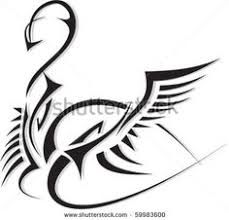 tribal swan design body art pinterest swans tattoo and tatting