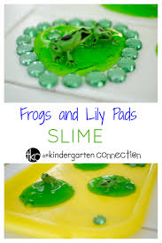 easy lily pad frog slime recipe for a frog theme