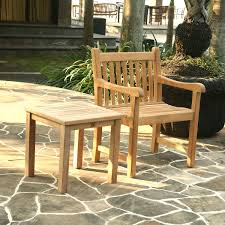 furniture side table teak outdoor furniture with chair for