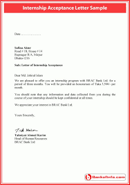 Certification Letter Format Sle Internship Acceptance Letter Formal Letter Application For